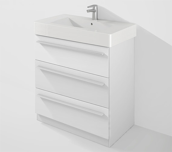 Duravit X-Large 800mm Unit With Plinth And 850mm Vero Basin