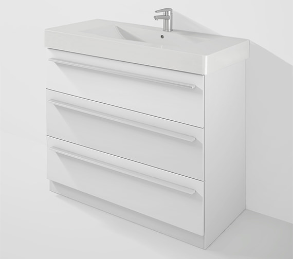 Duravit X-Large 1000mm Unit With Plinth And 1050mm Vero Basin