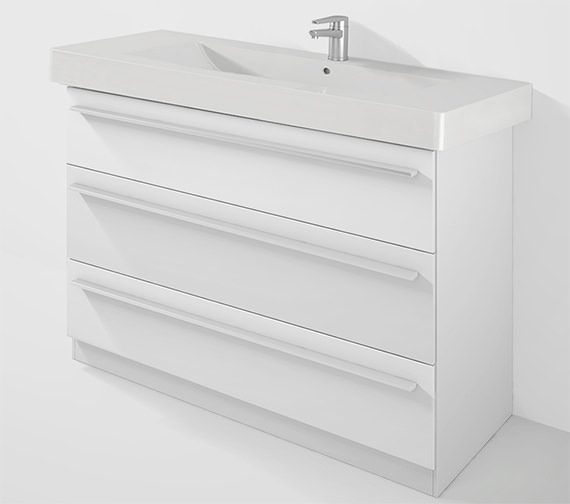Duravit X-Large 1200mm Unit With Plinth And 1250mm Vero Basin