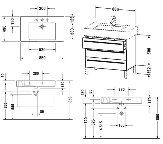 Technical drawing QS-V4430 / XL655309191