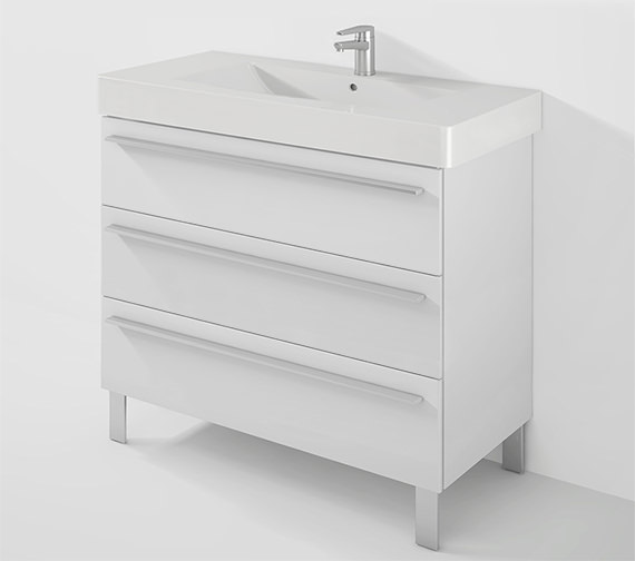 Duravit X-Large 1000mm 3 Drawer Unit With 1050mm Vero Basin