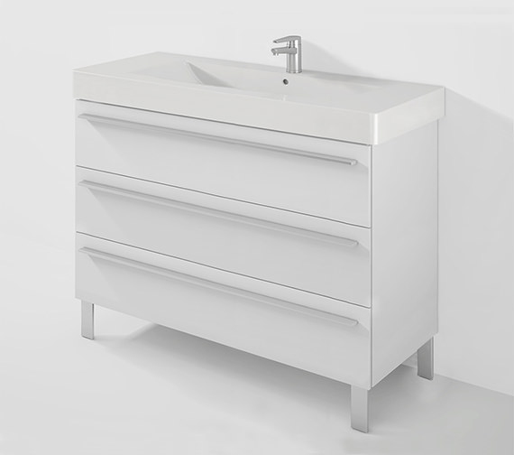 Duravit X-Large 1200mm 3 Drawer Unit With 1250mm Vero Basin