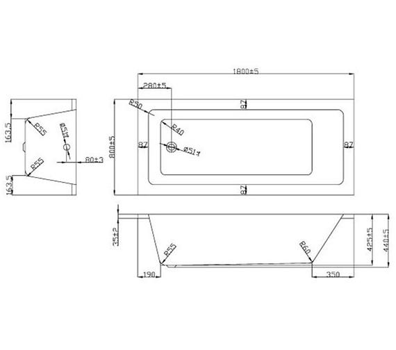 Technical drawing QS-V37709 / BH042