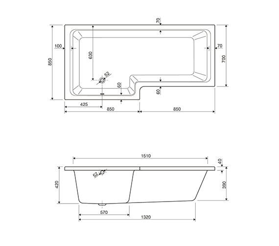 Technical drawing QS-V910004 / 154THAMES17RH