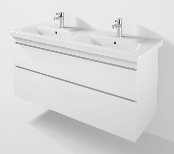 Duravit DuraStyle 1230mm 2 Drawers Unit With Double Basin - DS6498