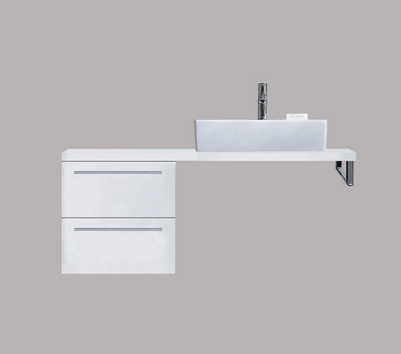 Duravit X-Large 400 x 478mm 2 Drawer Cabinet For Console - XL6522