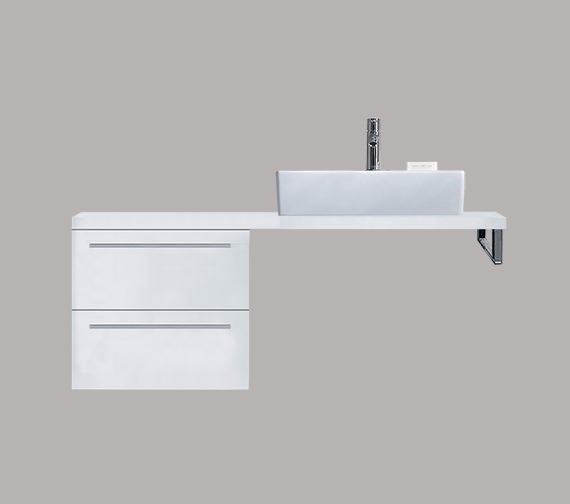 Duravit X-Large 500 x 478mm 2 Drawer Cabinet For Console - XL6523