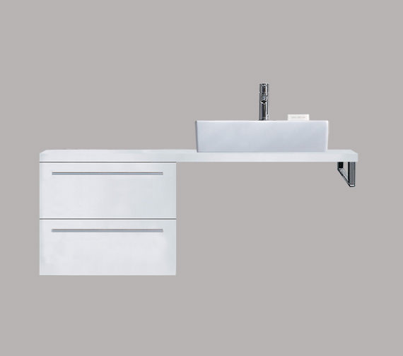 Duravit X-Large 600 x 478mm 2 Drawer Cabinet For Console - XL6524