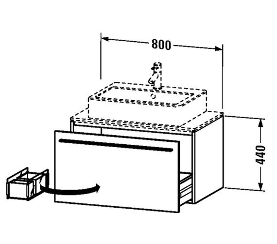 Technical drawing QS-V4442 / XL650101818