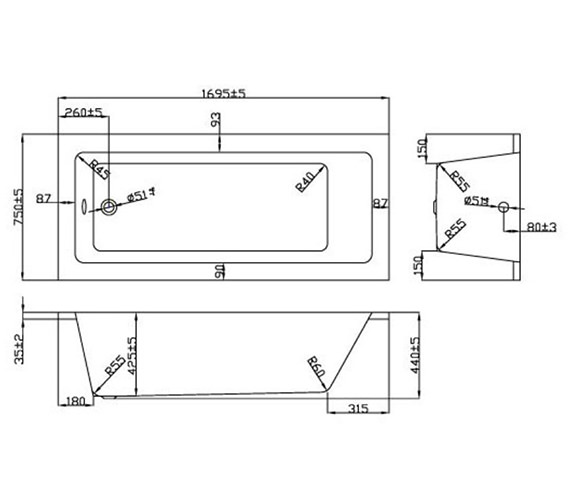 Technical drawing QS-V37644 / BH051