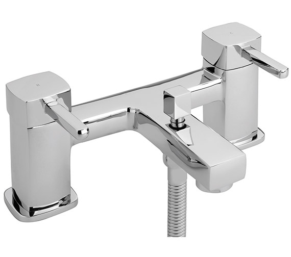 Sagittarius Axis Deck Mounted Bath Shower Mixer Tap And Kit
