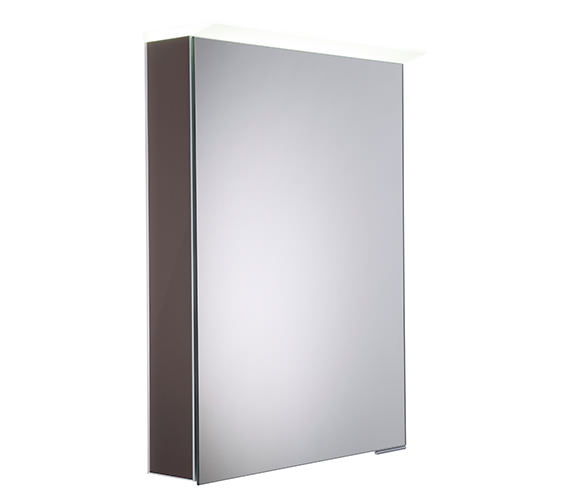 Roper Rhodes Virtue Gloss Dark Clay LED Mirror Cabinet - VR50ALGDC