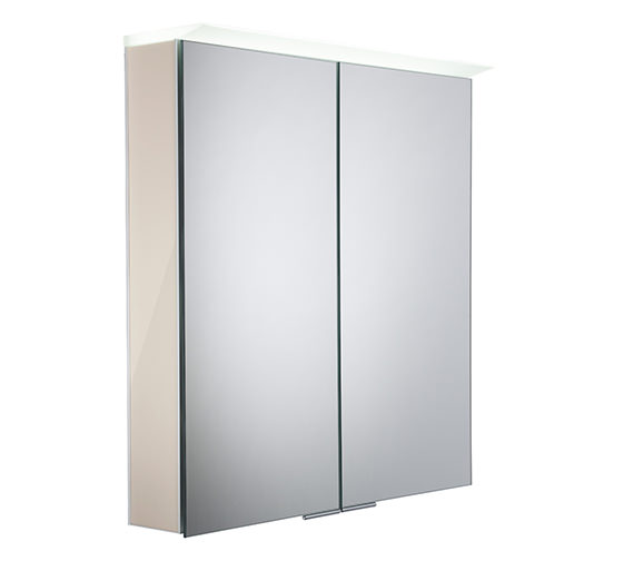 Alternate image of Roper Rhodes Visage 655 x 705mm LED Illuminated Mirror Cabinet Gloss White