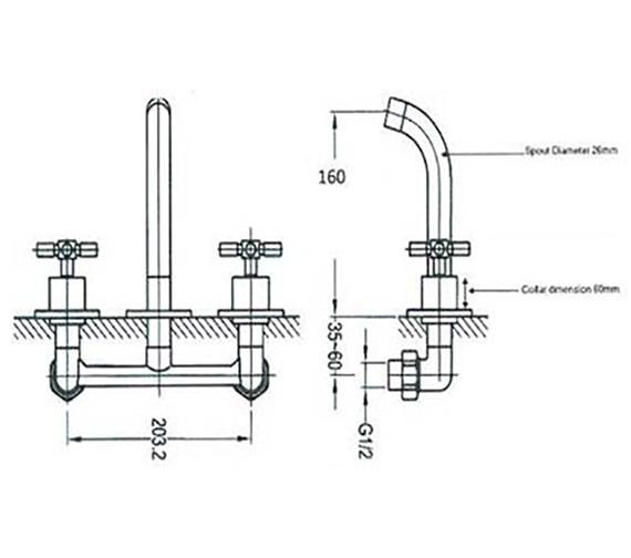 Technical drawing QS-V36182 / AV/207/C