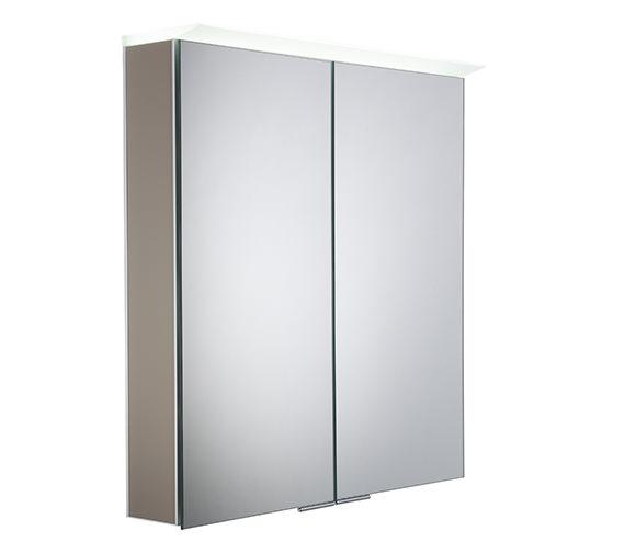 Roper Rhodes Visage Matt Light Clay LED Mirror Cabinet - VS65ALMLC