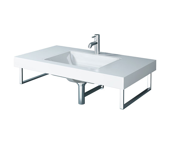 Duravit Fogo 800 x 550mm White High Gloss 1 Cut Out Console For Inset Basins
