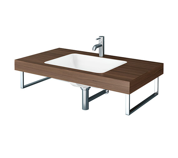 Duravit Fogo 800 x 550mm American Walnut 1 Cut Out Console For Inset Basins