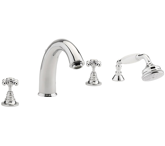 Sagittarius Butler 4 Hole Deck Mounted Bath Shower Mixer Tap