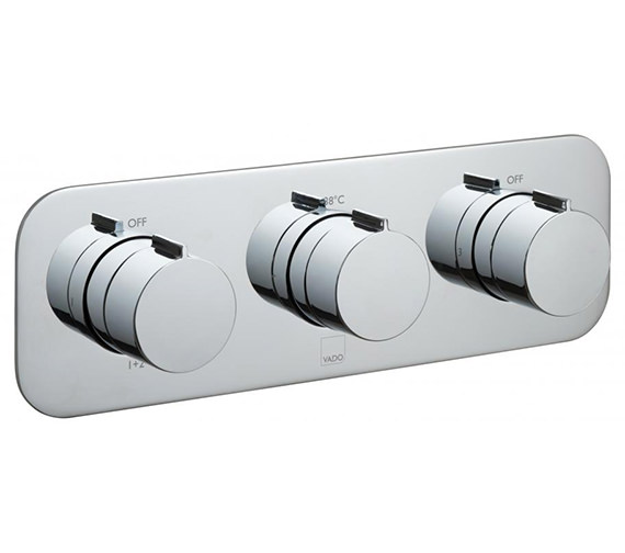 Vado Tablet Altitude Horizontal 3 Outlet Concealed Thermostatic Valve