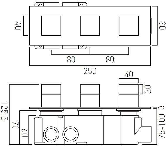 Technical drawing QS-V27363 / TAB-128/3-H-NOT-C/P