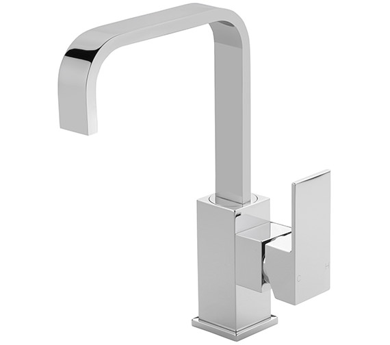 Sagittarius Blade Side Lever Basin Mixer Tap With Sprung Waste