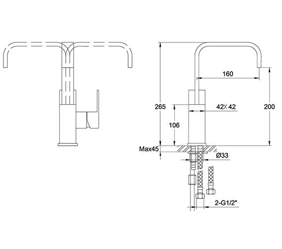 Technical drawing QS-V30215 / BL/206/C