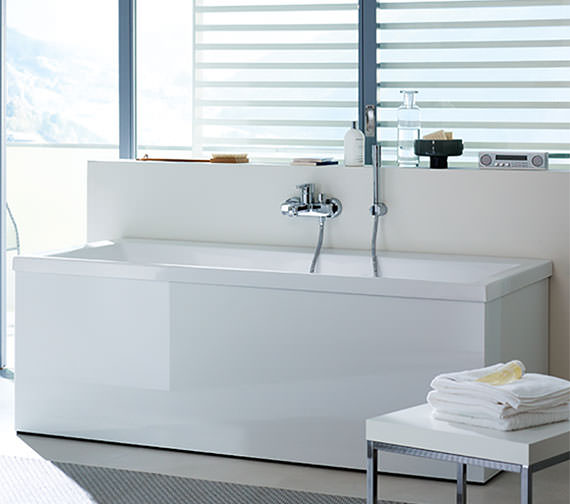 Duravit Vero 1800 x 800mm Bath With Two Backrest Slope And Combi System E