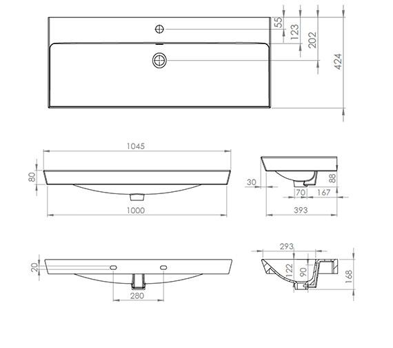 Technical drawing QS-V74192 / SCH1000C