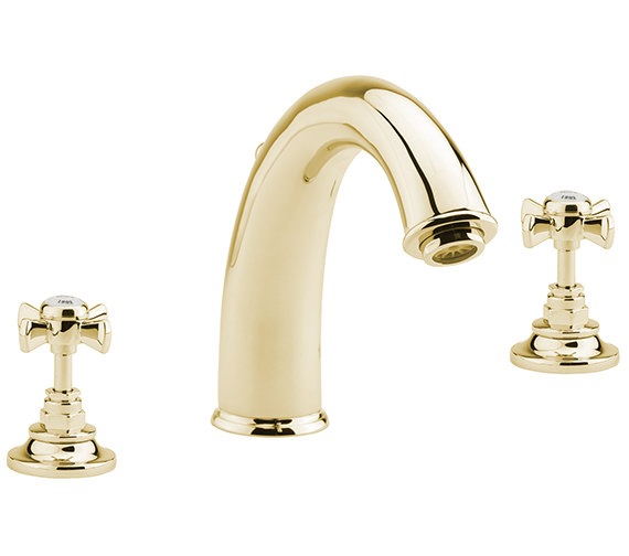 Sagittarius Churchmans 3 Hole Deck Mounted Bath Filler Tap Gold