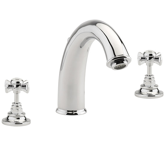 Sagittarius Churchmans 3 Hole Deck Mounted Bath Filler Tap Chrome