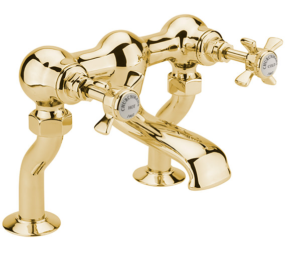 Sagittarius Churchmans Deluxe Deck Mounted Bath Filler Tap Gold