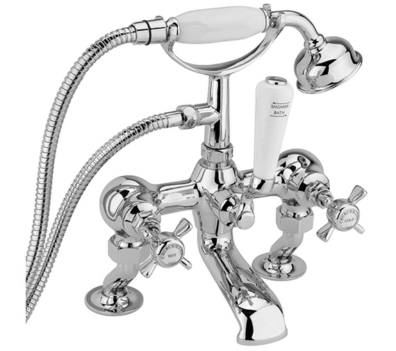Sagittarius Churchmans Deluxe Deck Bath Shower Mixer Tap With Kit Chrome
