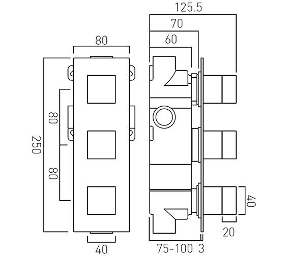 Technical drawing QS-V19308 / TAB-128/2-NOT-C/P