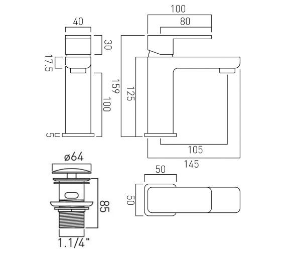 Technical drawing QS-V51118 / PHA-200/CC-C/P