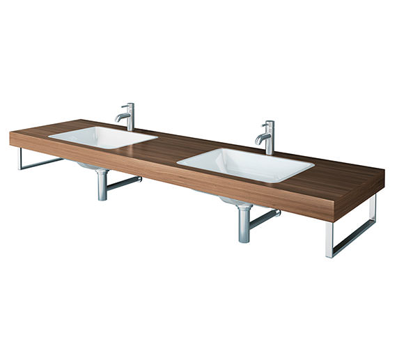Duravit Delos 2 Cut Out Console For Undercounter Basin - Brushed Oak