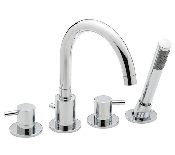 Sagittarius Ergo 4 Hole Deck Mounted Bath Shower Mixer Tap