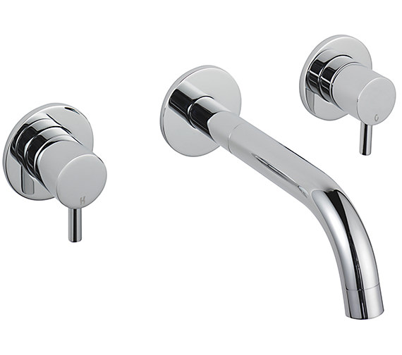 Sagittarius Ergo 3 Hole Wall Mounted Basin Mixer Tap