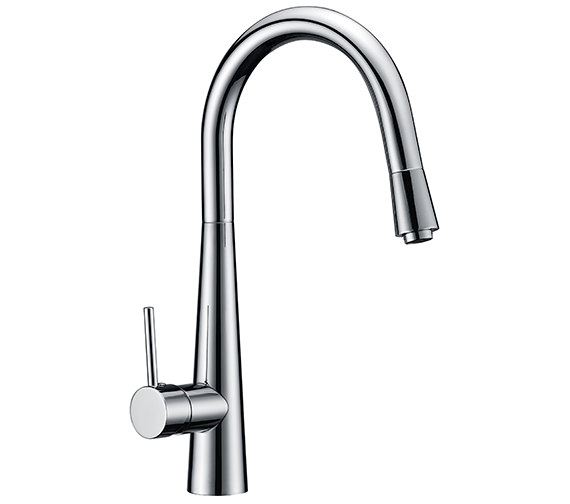 Sagittarius Flare Monobloc Kitchen Sink Mixer Tap With Pull Out Spray Head