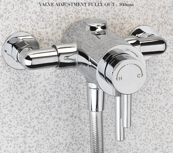 Additional image of Sagittarius Ergo Universal Fit Thermostatic Slide Rail Shower Pack