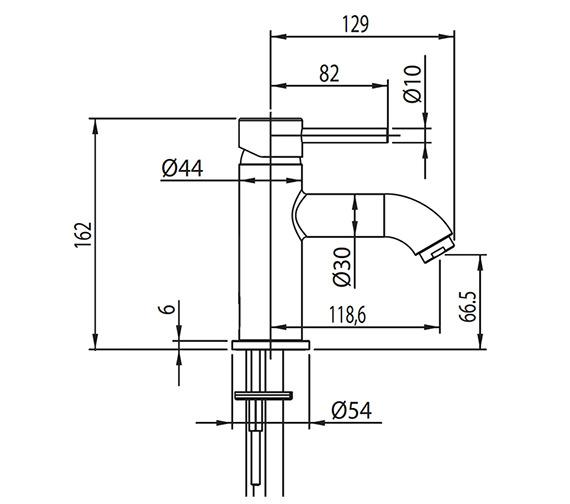 Technical drawing QS-V30384 / EL/106/C