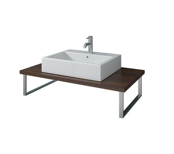 Duravit Vero 800mm American Walnut 1 Cut Out Console - VE096C01313