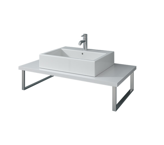 Duravit Vero 800 x 550mm White High Gloss 1 Cut Out Console With LED - VE098C02222