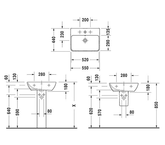 Technical drawing QS-V6354 / 2335550000