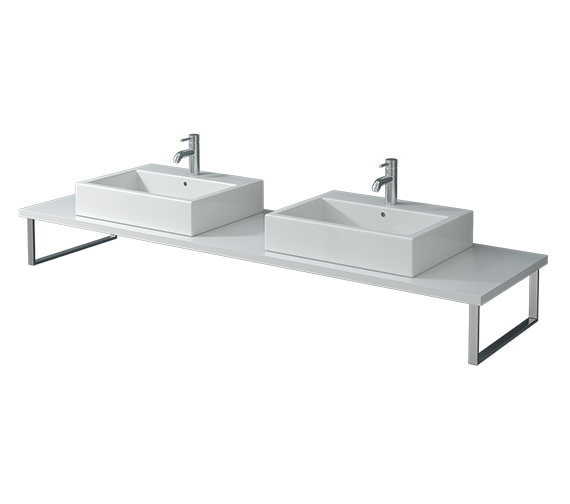 Duravit Vero 800 x 550mm White High Gloss 2 Cut Out Console With LED