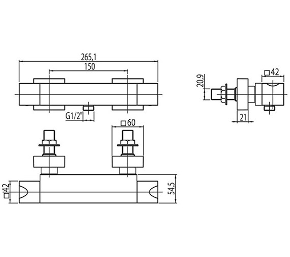Technical drawing QS-V313 / MA/168/C