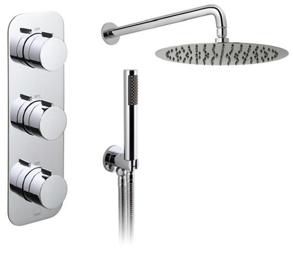 Vado Tablet Altitude Vertical 2 Outlet Thermostatic Shower Package