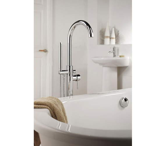 Sagittarius Ergo Floor Mounted Bath Shower Mixer Tap With No 1 Kit EL 214 C