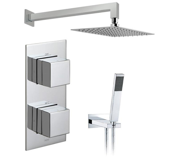 Vado Tablet Notion Vertical Thermostatic Valve With Head And Shower Kit