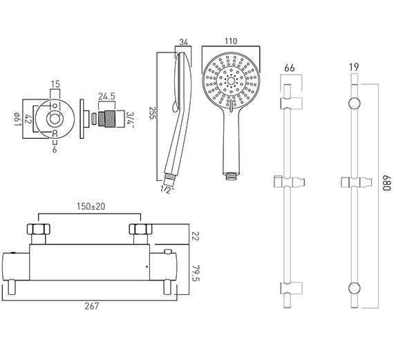 Technical drawing QS-V61396 / CEL-1701-3/4-11-C/P