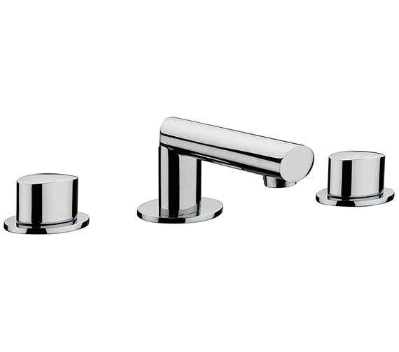 Sagittarius Oveta 3 Hole Deck Mounted Basin Mixer Tap With Sprung Waste